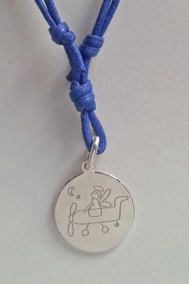 CLCOR008-Collana-cordino-blu mare