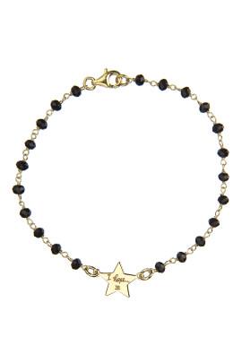 bracciale rosario onice stellina
